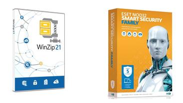 за закупку карт ESET вы получаете в ПОДАРОК архиватор - Soft Corel WinZip 21