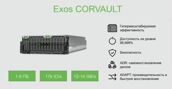 Новый продукт Seagate — Corvault