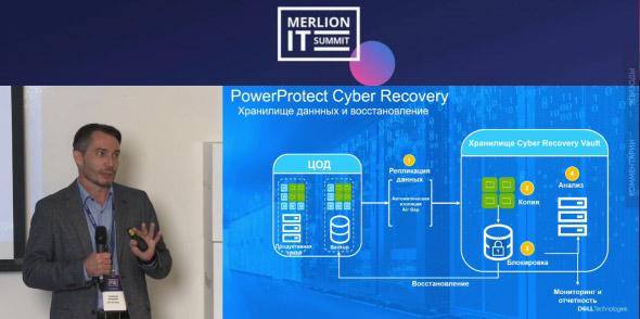 Владимир Прожогин презентует решение PowerProtect Cyber Recovery