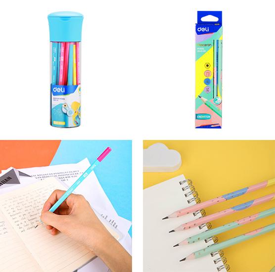 Чернографитные карандаши Deli серии Macaron и U-touch