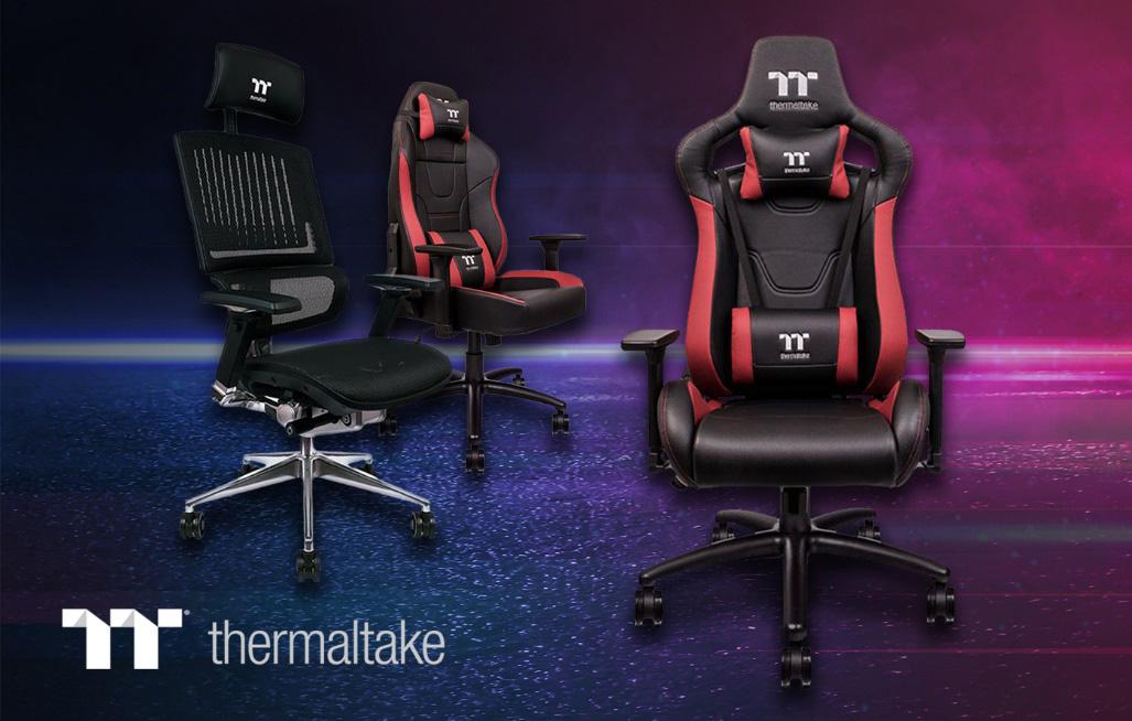 Thermaltake представляет три новые модели игровых кресел